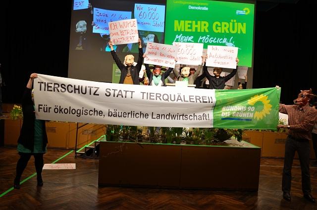 Tierschutz-Flashmob auf der LDK Würzburg 2013