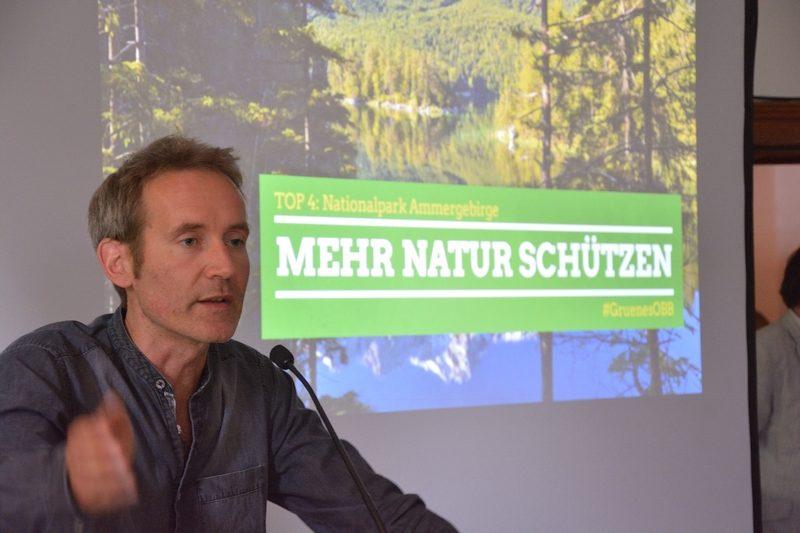 Markus Büchler Bezirksversammlung Grüne Oberbayern Feldafing 1.7.17