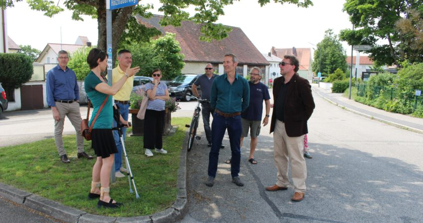 Tempo 30 - Begehung in Hepberg mit MdL Dr. Markus Büchler